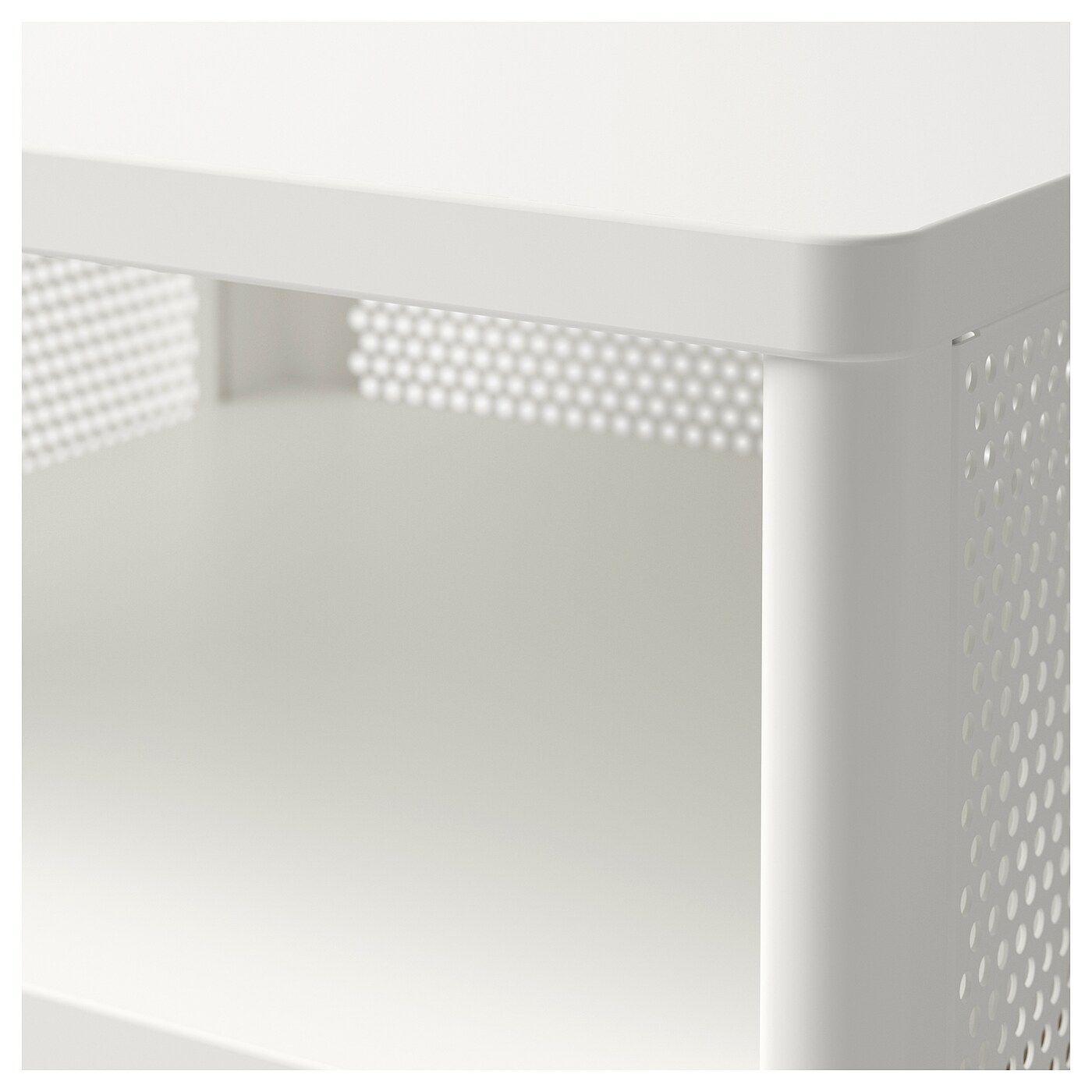 Bekant Aufbewahrungselement Mit Rollen Netz Weiss Ikea Aufbewahrung Aufbewahrung Und Schubladenelement