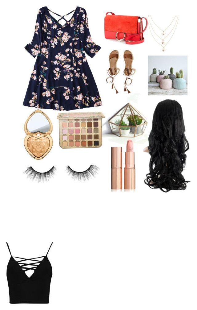 """Spring look"" by summerskyfashion on Polyvore featuring Boohoo, Hollister Co., Chloé, Too Faced Cosmetics and tarte"