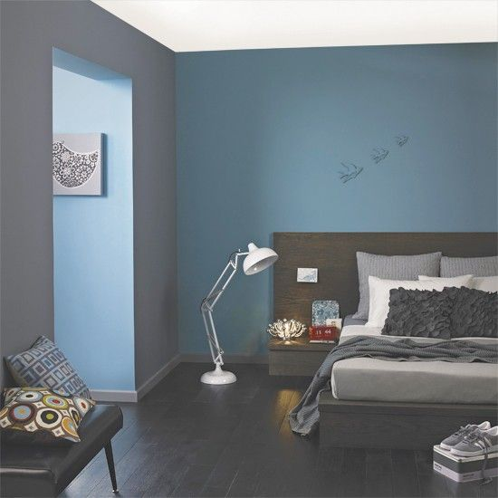 Blue And Gray Bedroom Designs 5 Ways With Blues And Greys  Blue Bedrooms Bedrooms And Desk Lamp