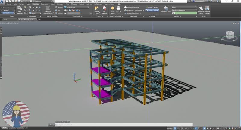 Autodesk Advance Steel 2019  Level II | Buildings | Advance