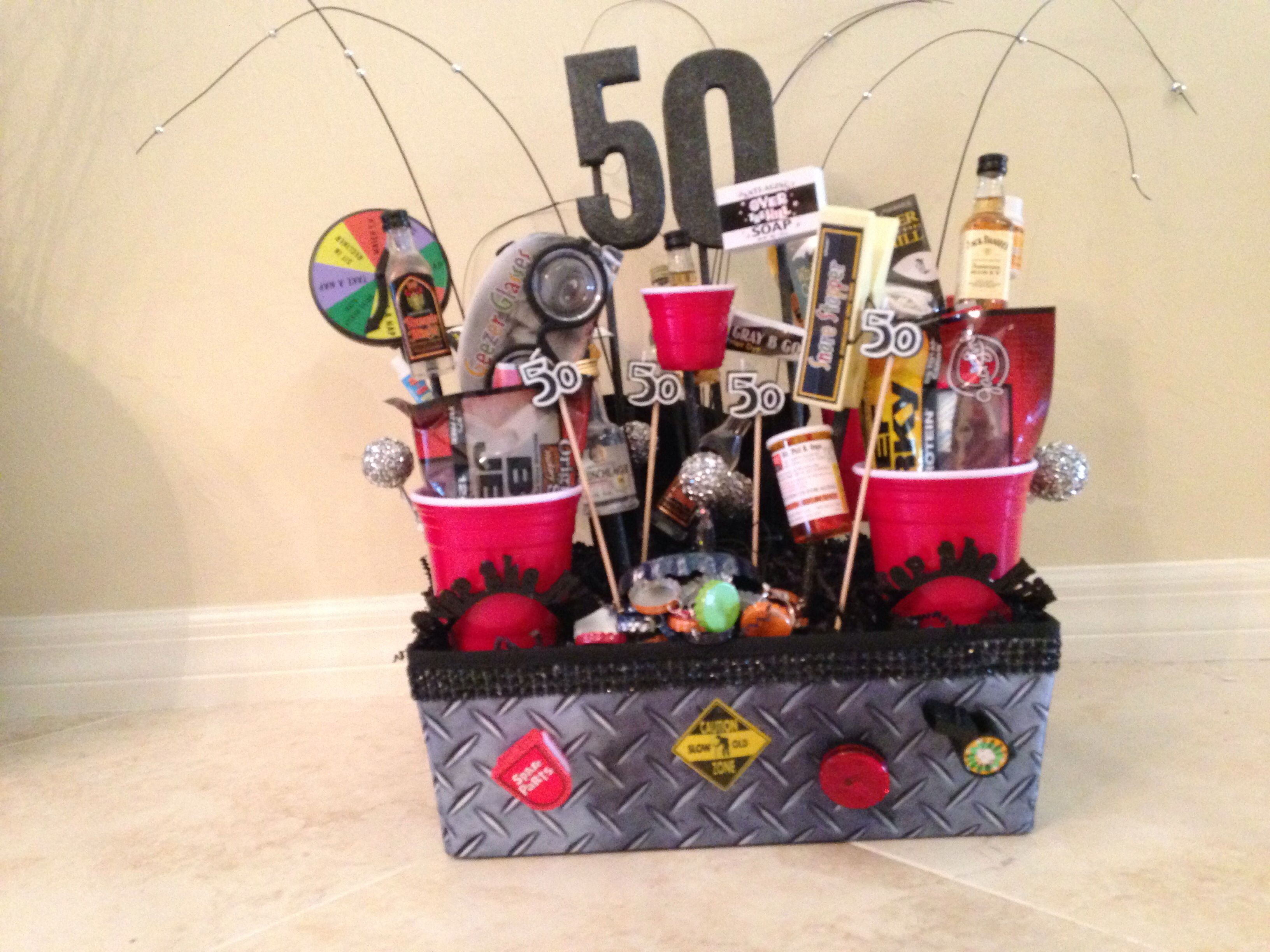50th Birthday Basket Diy Birthday Gifts 50 Birthday Gift