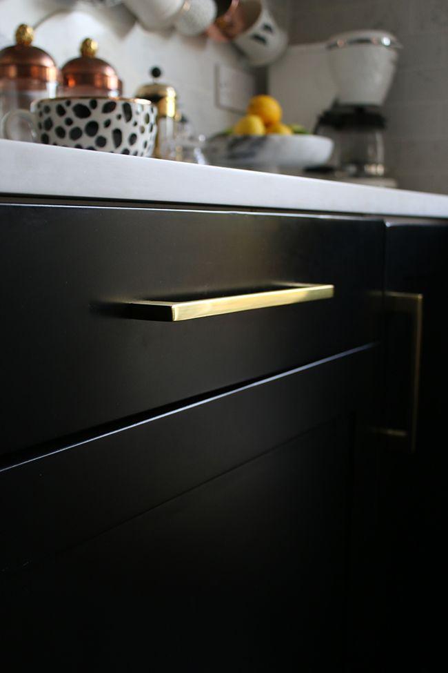 painting our kitchen cupboards black black kitchens kitchen