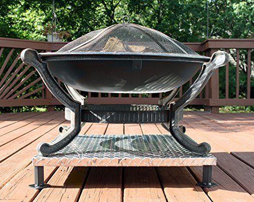 Deck Defender Amp Grass Guard Fire Pit Heat Shield Fire Pit Heat Shield Fire Pit Deck Fire Pit