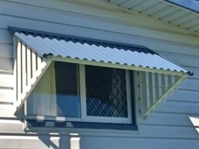 Online Blinds Corrugated Window Awnings White In 2019