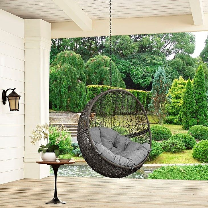 Lexmod Hide Outdoor Patio Swing Chair Without St Vozeli Com