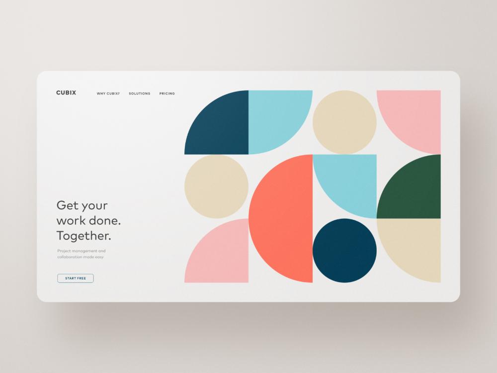 Cubix Project Collaboration And Organization Project Collaboration Design Inspiration Graphic Design Inspiration