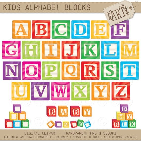 Kids Abc Blocks Luvly Marketplace Premium Design Resources