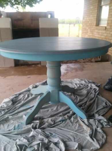 Cheap table found at a rummage sale Used citrasolve and steel