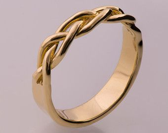 Items similar to Parched Earth No 4 14K Gold Ring uni ring