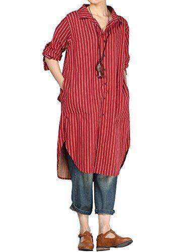 Mordenmiss Women's 2017 New Casual Stripes Shirt Dress wi... https://www.amazon.com/dp/B06XD2K29D/ref=cm_sw_r_pi_dp_x_Uq1gzbGH15HHW