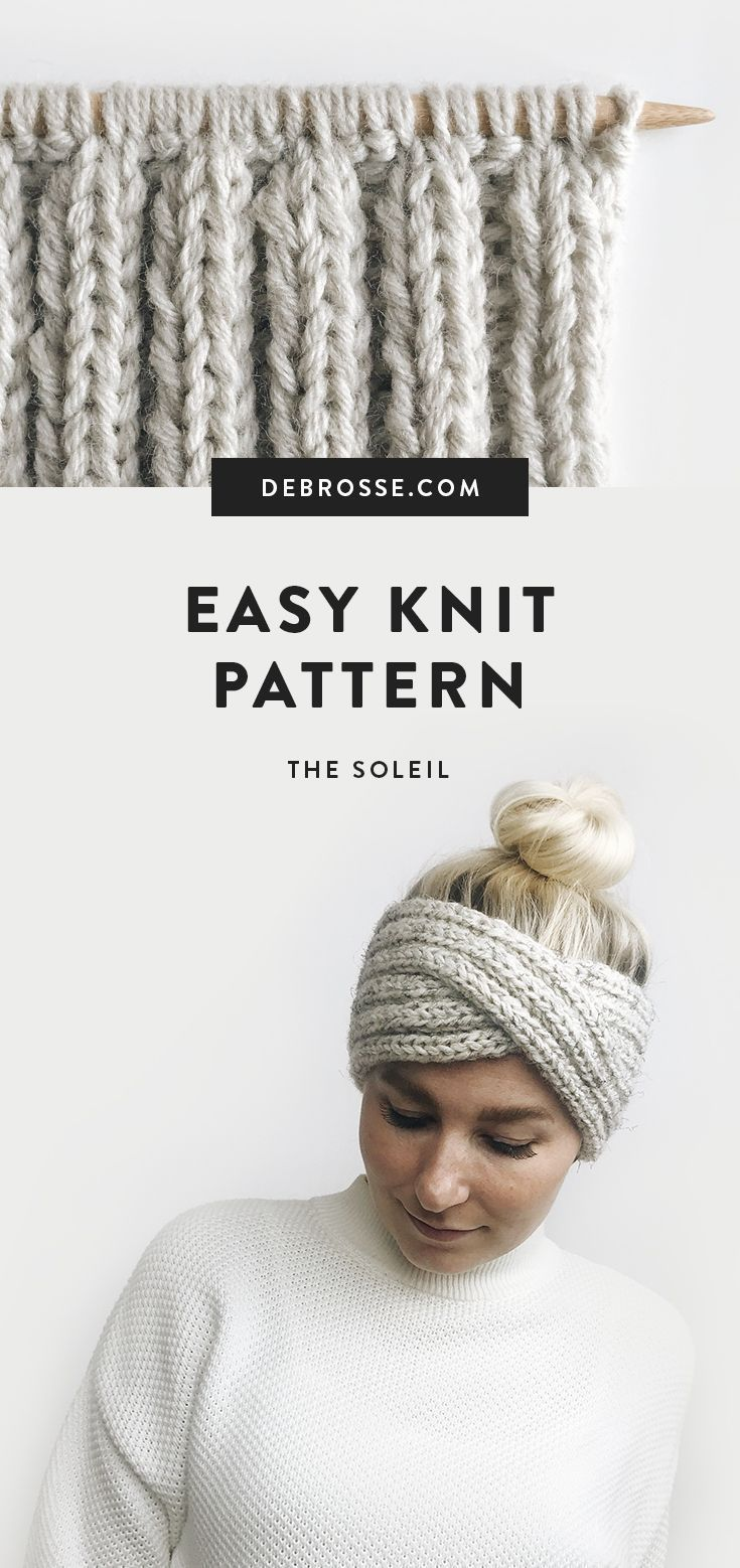 Photo of This is a super simple + modern knitting pattern for the headband. Works quickly and …