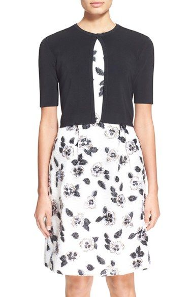 Lela Rose Cropped Short Sleeve Cardigan $236.98 #Sale #prett ...