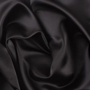 Black Polyester Satin fabric//material