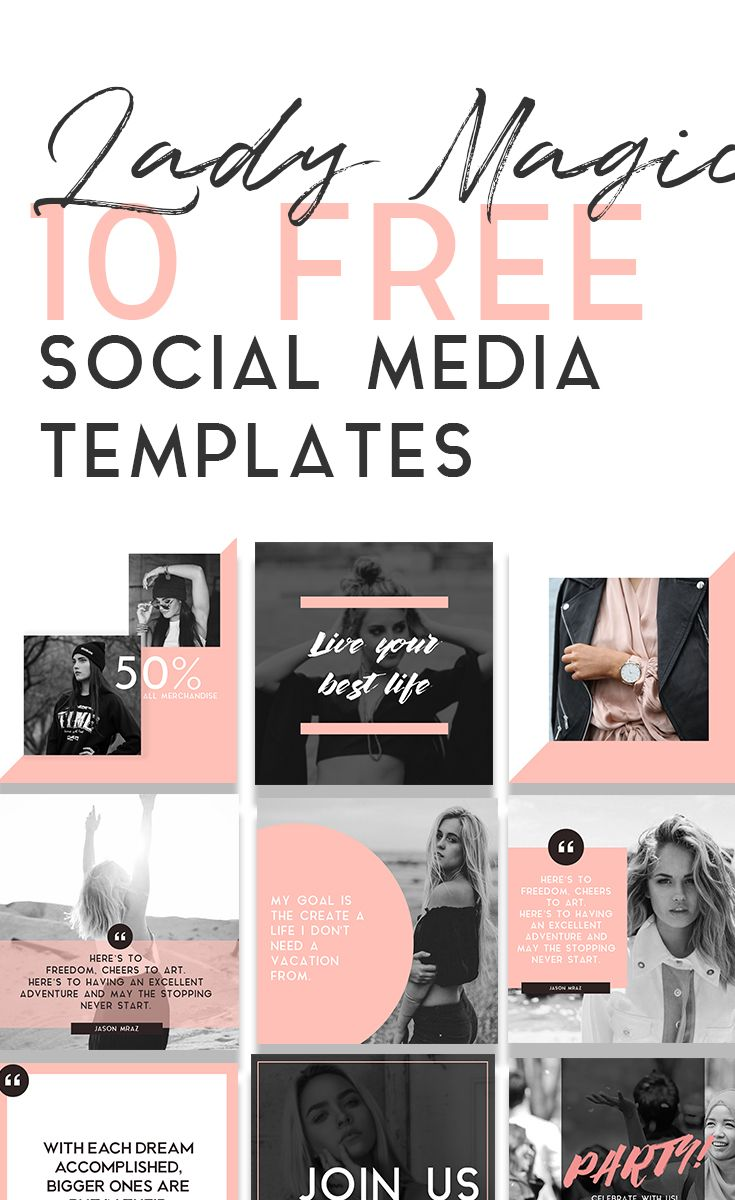 totally free social media template pack