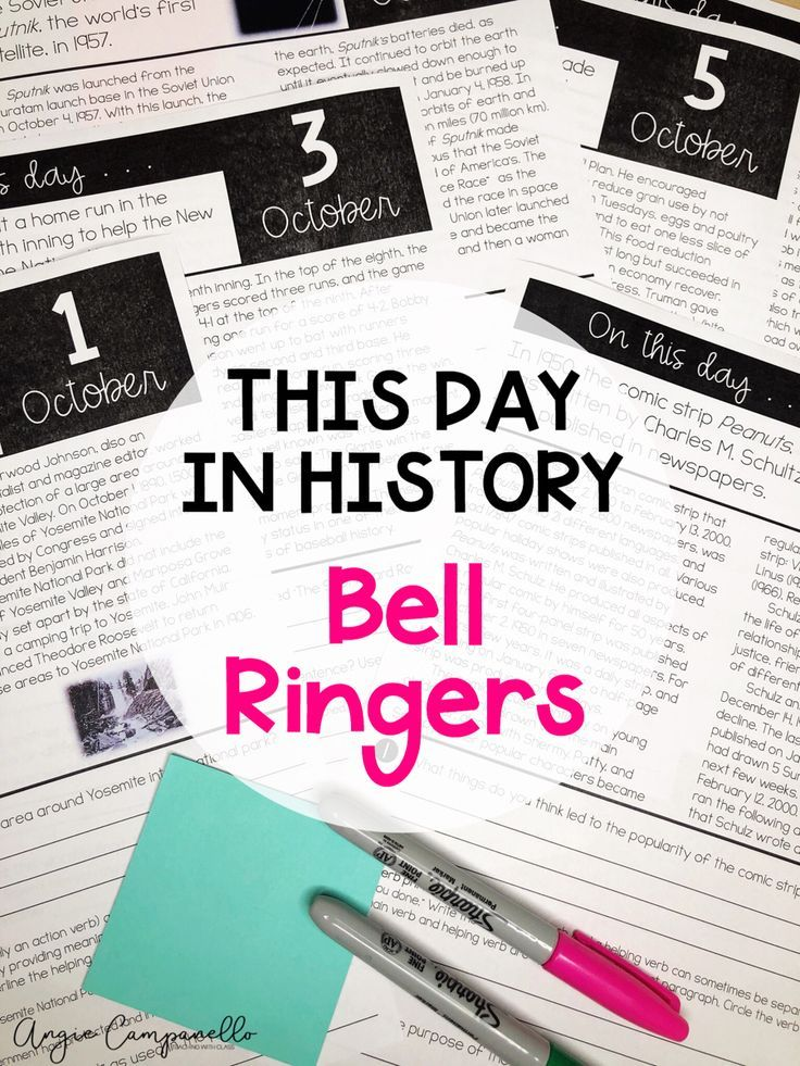 Photo of This Day in History Bell Ringers | Morning Work | Daily Language Review