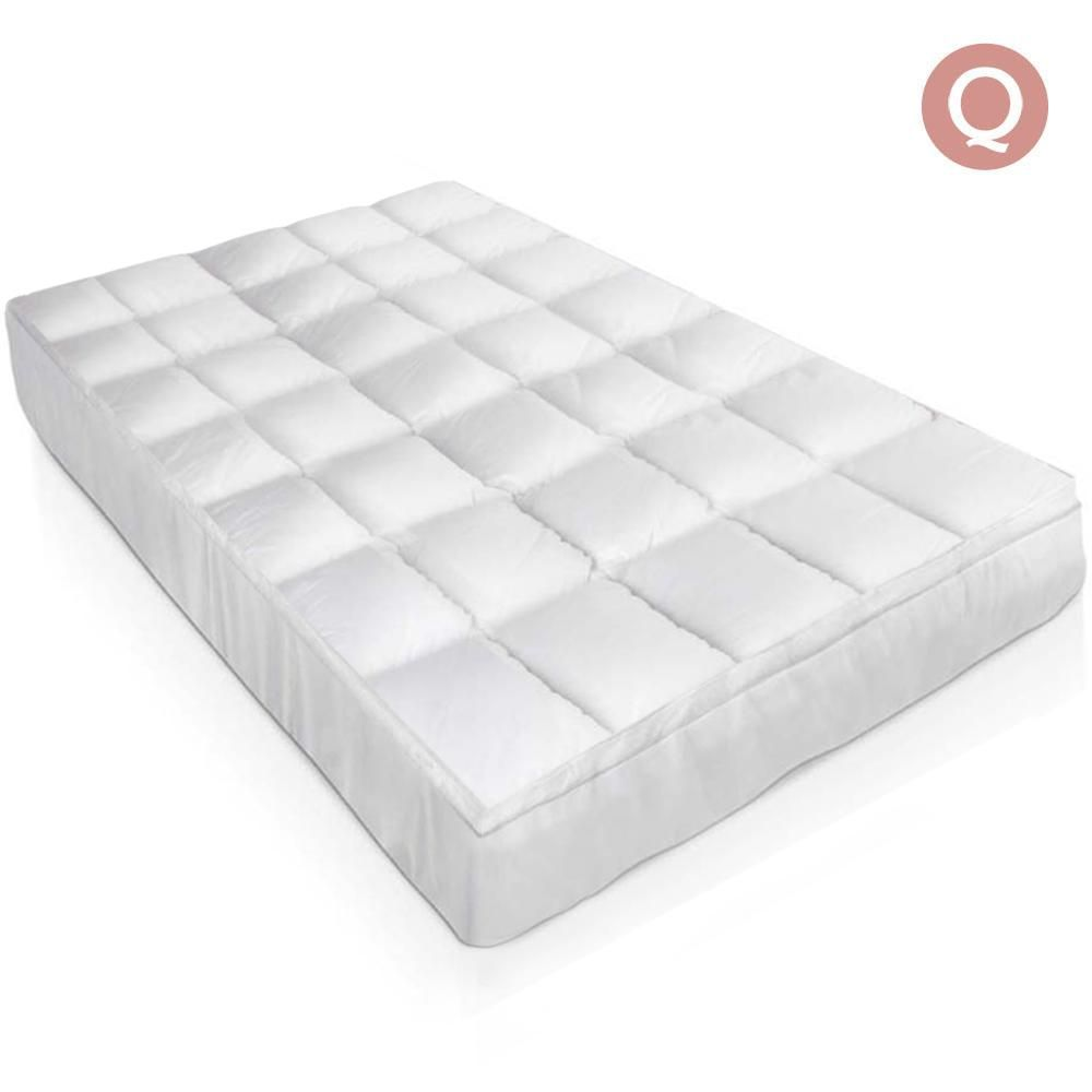 goose down feather mattress topper queen topper goose q for
