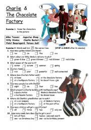 English worksheet: PART 1/4 Charlie & The Chocolate Factory - movie ...
