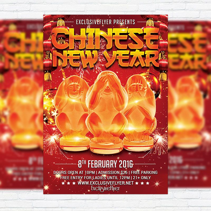 Chinese New Year - Premium Flyer Template + Facebook Cover http - new year brochure template