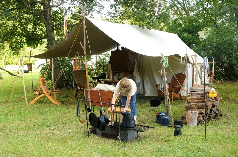 Nice Complete Reenactment (late 18th C.) Tent and C& setup & Nice Complete Reenactment (late 18th C.) Tent and Camp setup ...