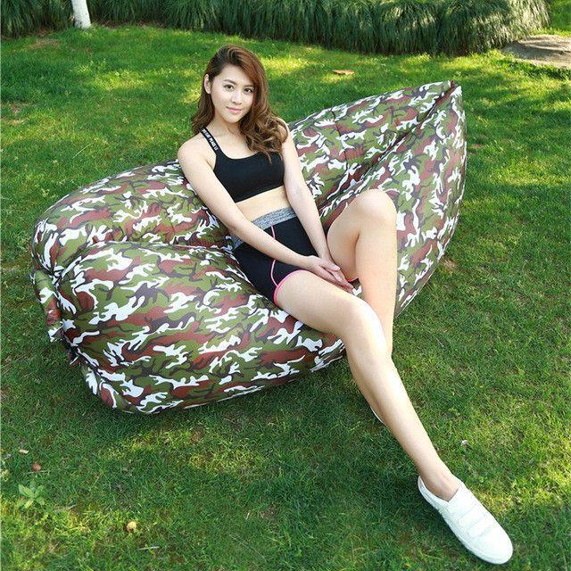 Inflatable Air Sofa Sleeping Laybag Lazy Bag Air Chair Cama Inflable ...