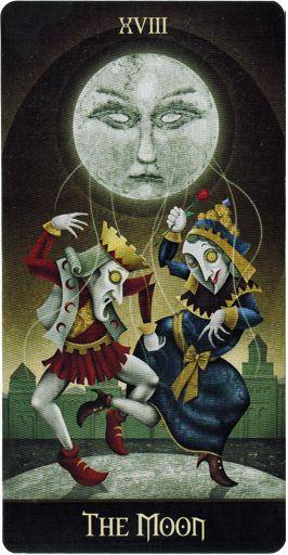 Lá XVIII. The Moon - Deviant Moon Tarot - Tarot Việt Nam