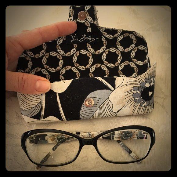 e86391b7959 🕶Vera Bradley classic black eyeglasses🕶 Authentic Vera Bradley black  glasses with beautiful sand colored