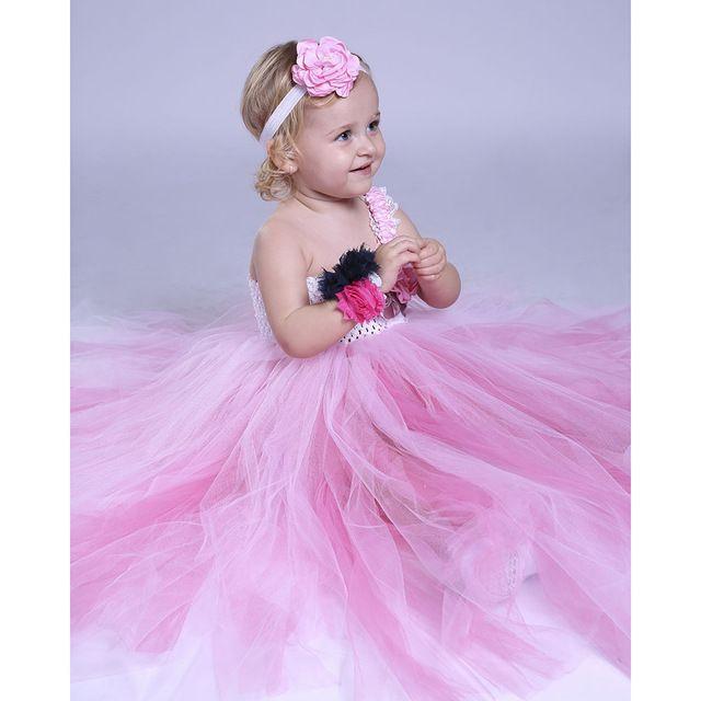 Vestido de Partido del bebé Del Tutú Rosa Rosa Vestido de Niña de ...