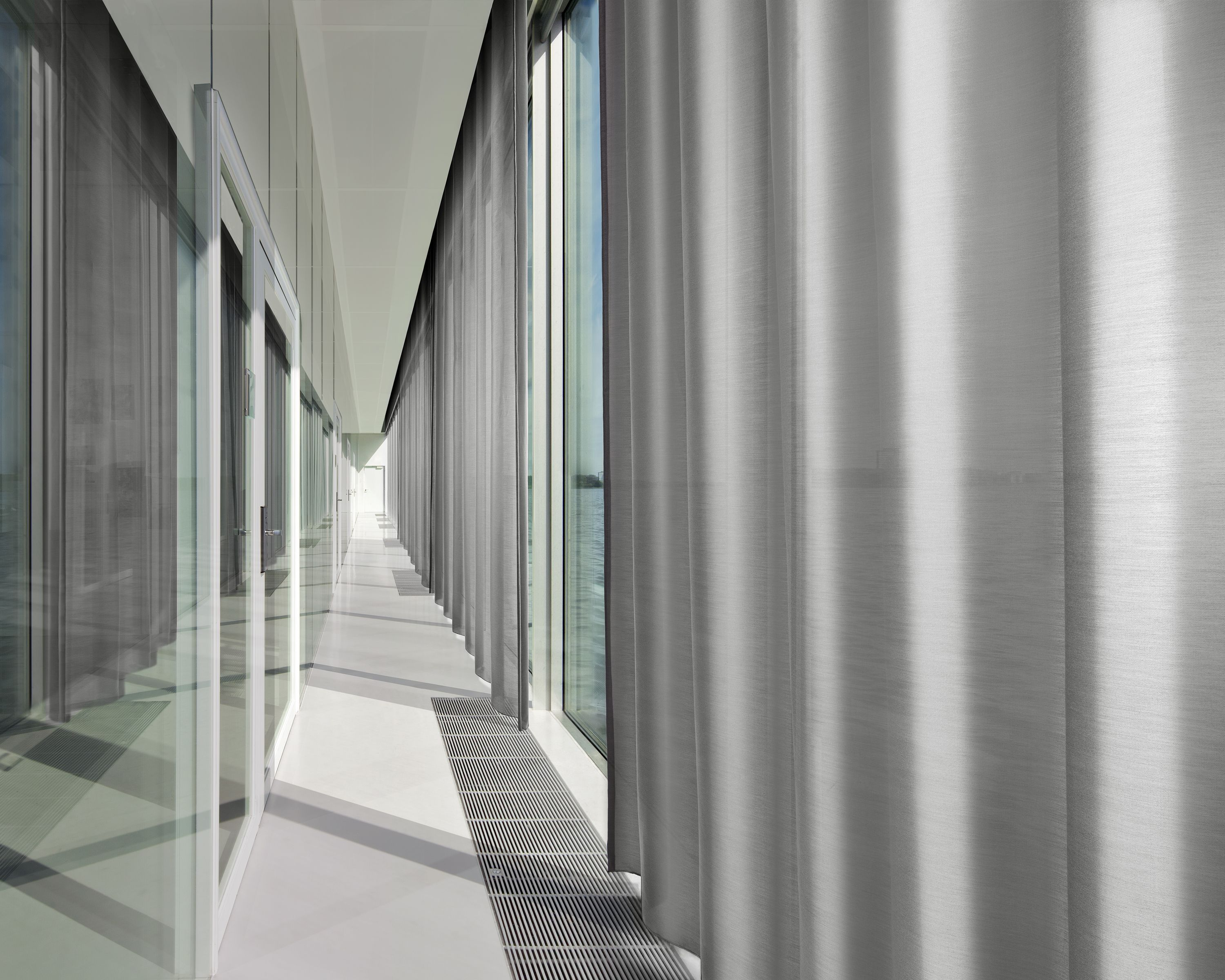 douglas absorbing hall translucent space curtains music by acoustics klosterinsel switzerland silent acoustic collection sound rheinau annette pin and textiles curtain