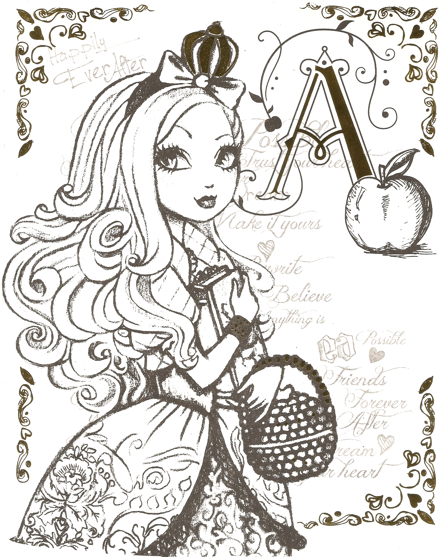 Ever after high illustrations google search coloriages