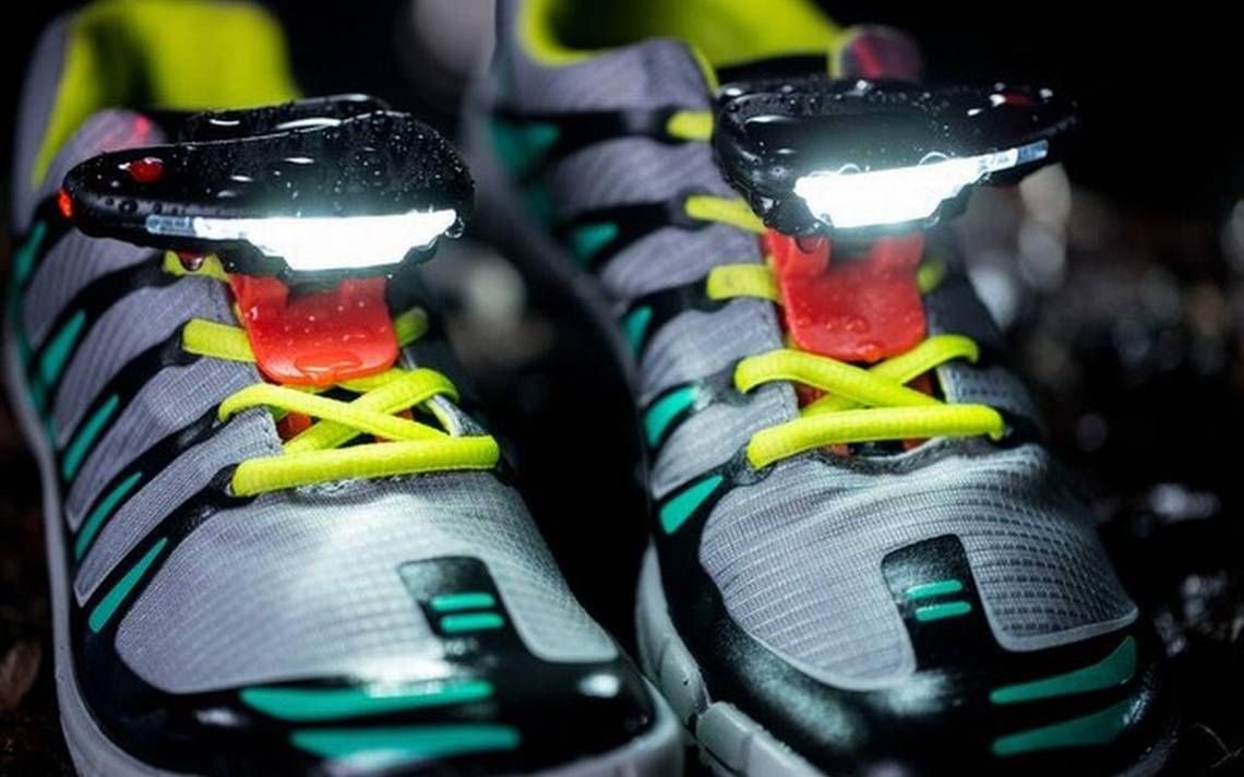 Those not content with having lights attached to heads, waists or hands now can clip them to the tops of shoes