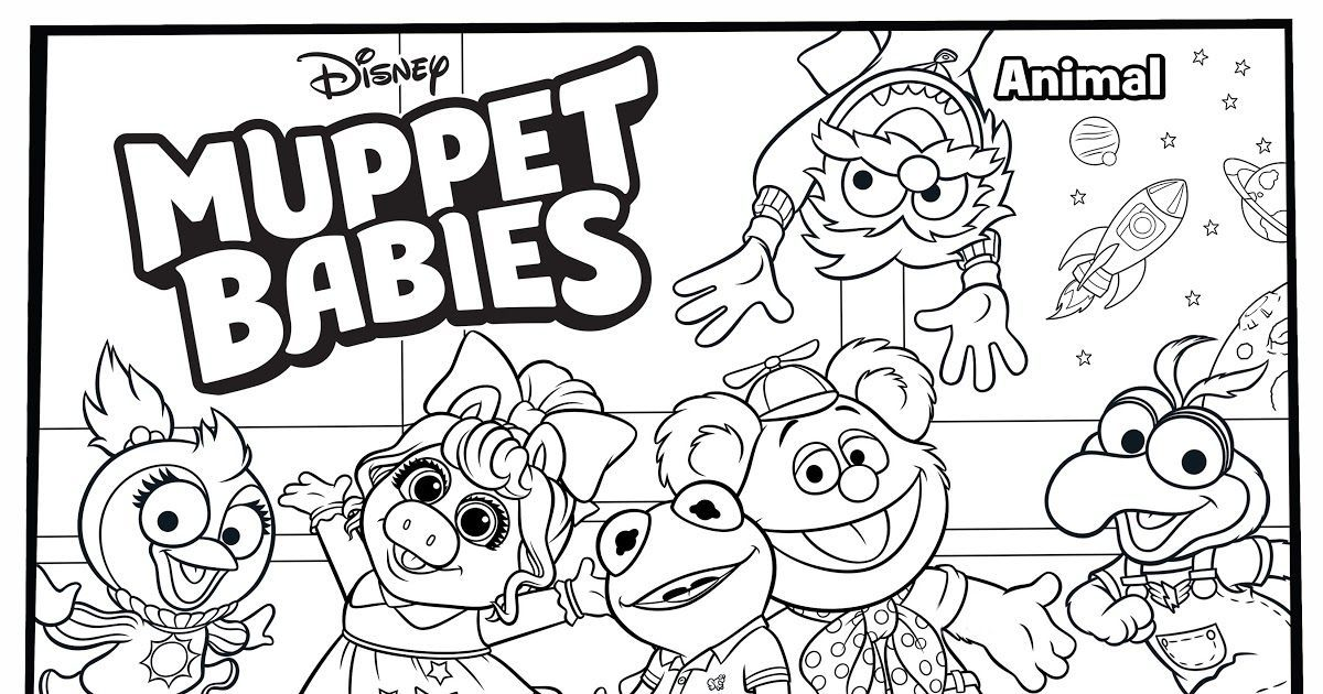 Muppet Babies Coloring Pages in 2020 Muppet babies, Baby