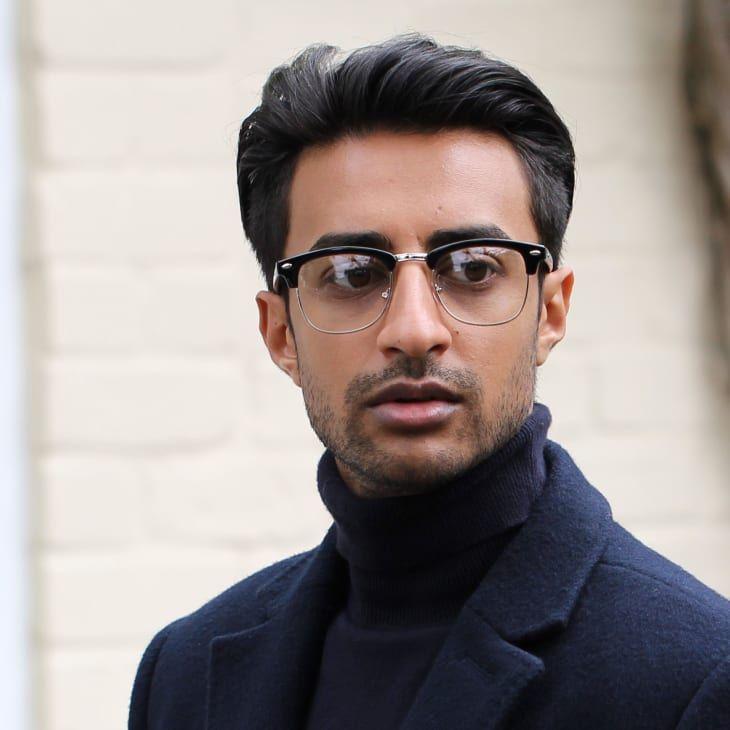 Black Silver Tone Clear Vintage Glasses In Stock Evershade In 2021 Black Man With Glasses Vintage Glasses Mens Eye Glasses