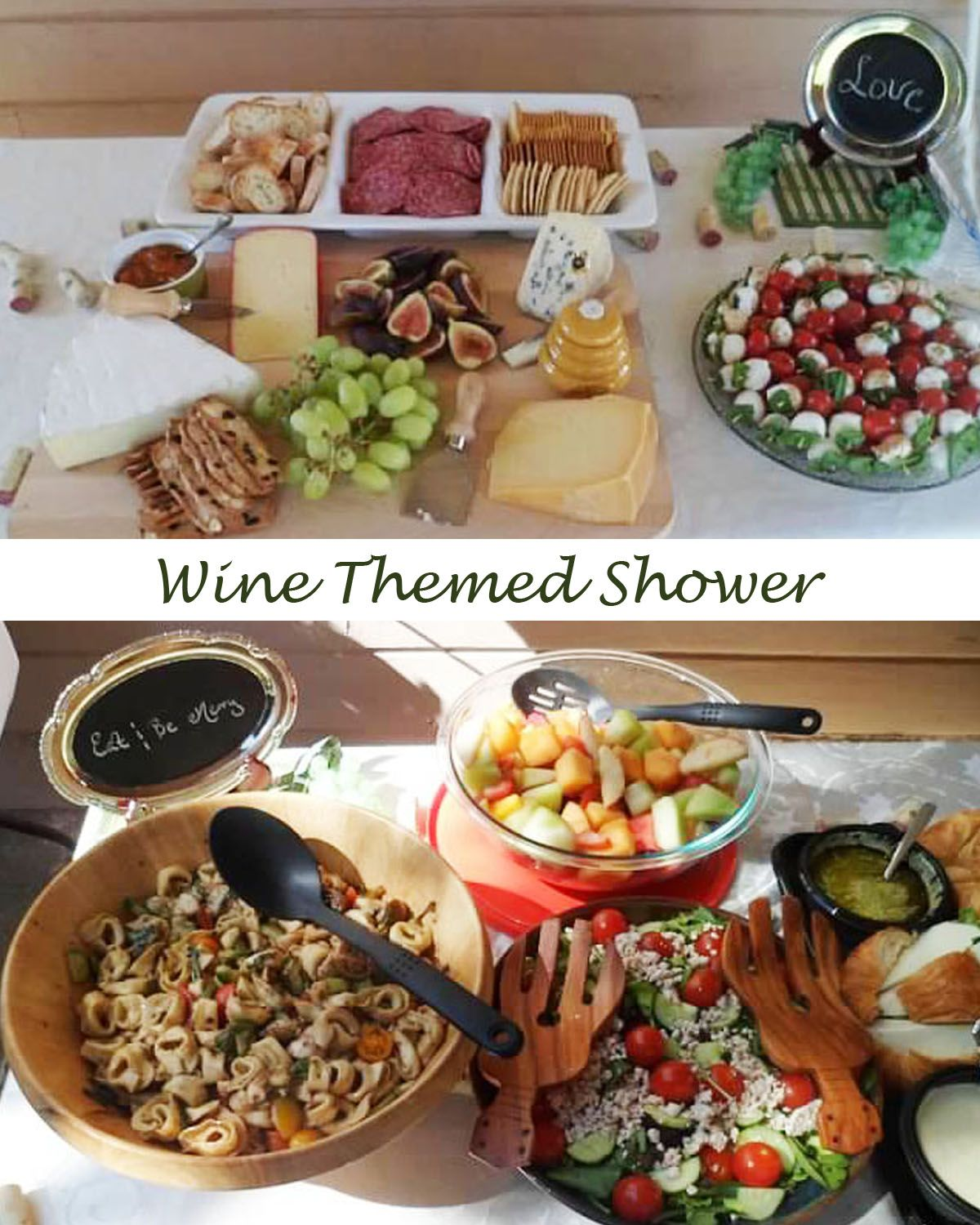Party Food Spread For Kids: Food Spread For Wine Themed Bridal Shower