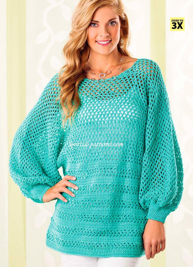 Craft Passions Peekaboo Back Tunic Free Crochet Pattern Li