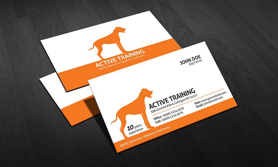 Dog Trainer Business Card. Download thousands of Free Psd, Vectors ...