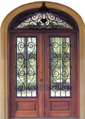 Lovely Wrought Iron Inserts for Entry Doors