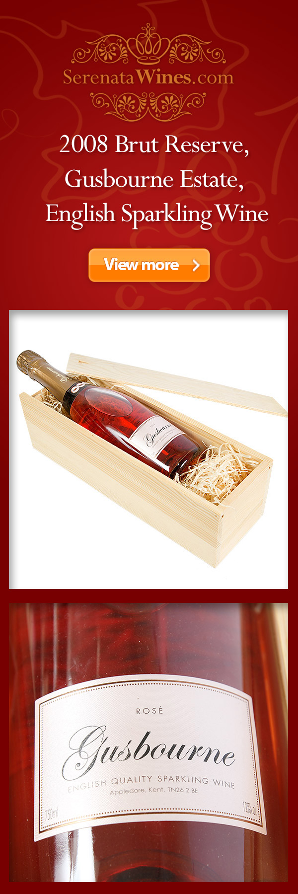 2008 Brut Reserve Gusbourne Estate Rose English Sparkling Wine Wine Gifts Sparkling Wine Italian White Wine