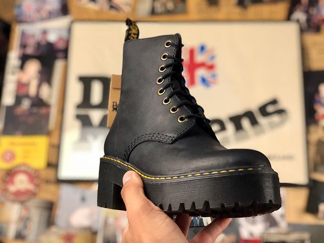 The new Shriver Hi Black Burnished Wyoming for the girls !!!   allaboutdrmartens   8f8de63244