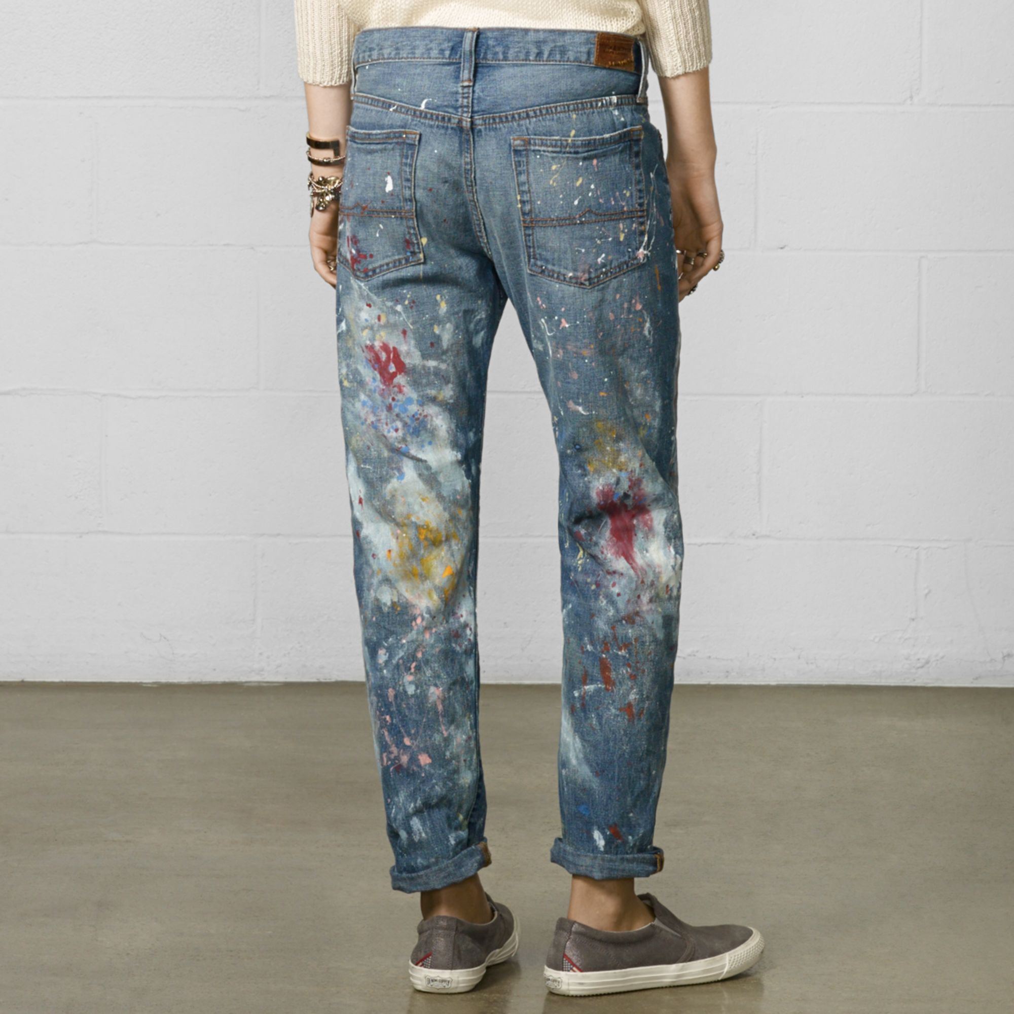Image result for ralph lauren denim and supply paint jeans