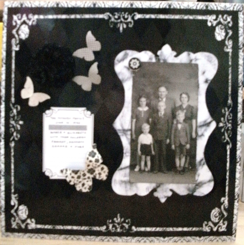 Family Scrapbook Scrapbooking Pinterest