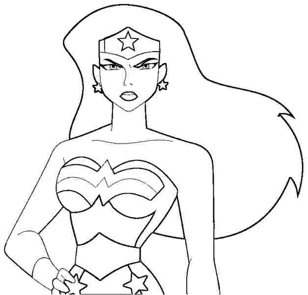 Wonder Woman Coloring Pages | Free Superhero Wonder Woman Colouring ...