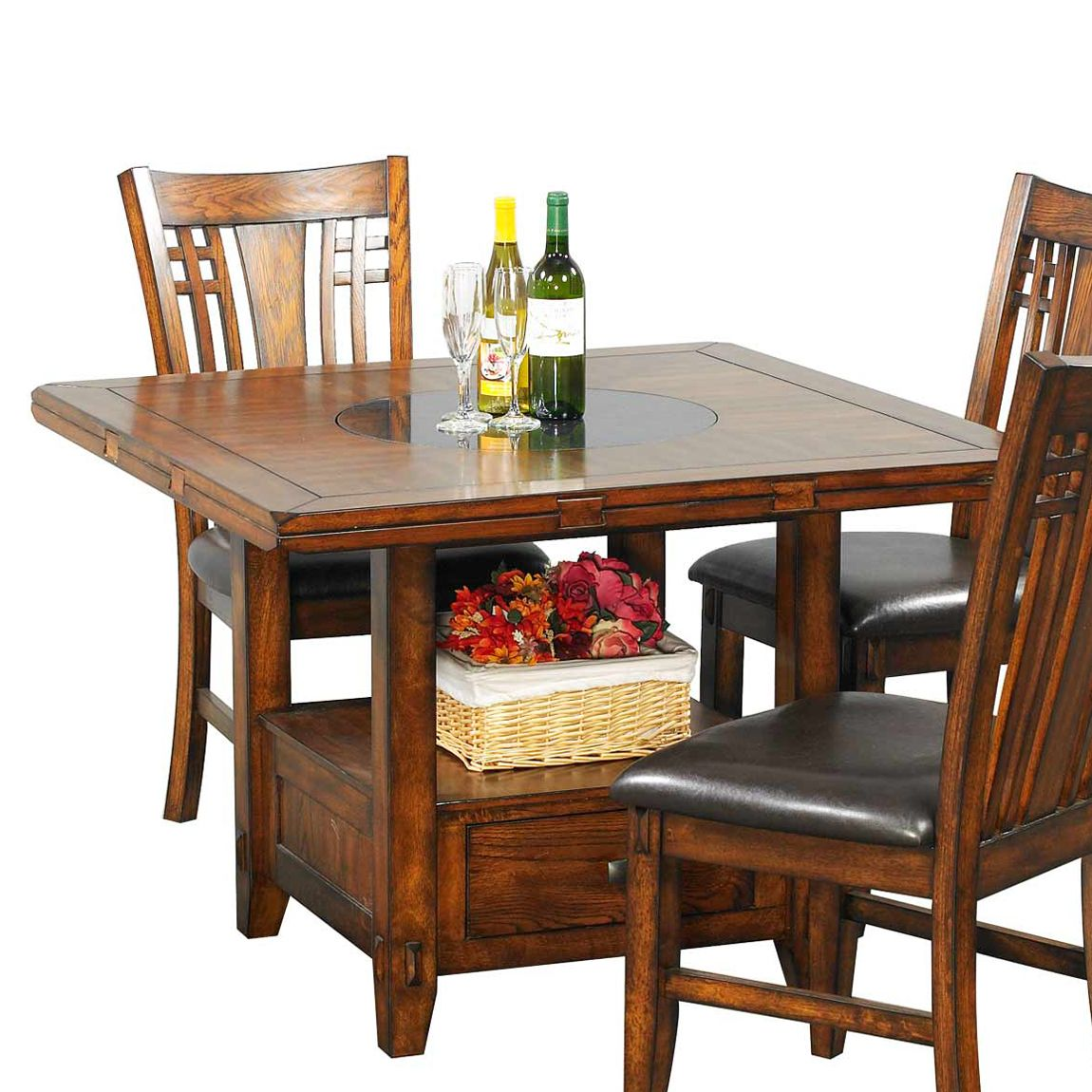 Winners Only Dzh4260 Zahara 60 In Round Dining Table With Granite