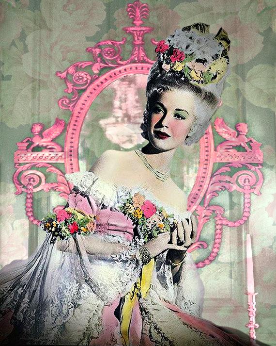 Marie Antoinette vintage photomontage digital art by VoogsArt