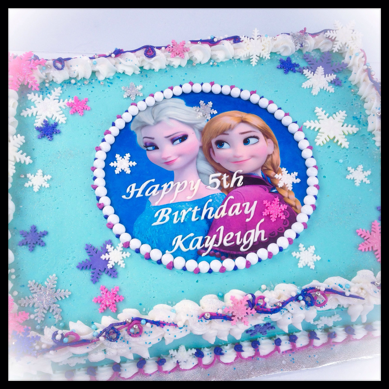 Frozen 1 2 Sheet Buttercream Cake Frozen Birthday Theme Frozen