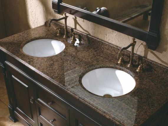 Bathroom Sinks And Countertops | ... Finish Ideas Traditional Double Sink  Bathroom Vanity Design