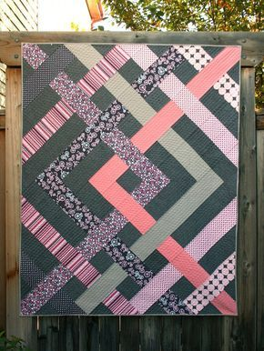 The Eliza Quilt Pattern #jellyrollquilts