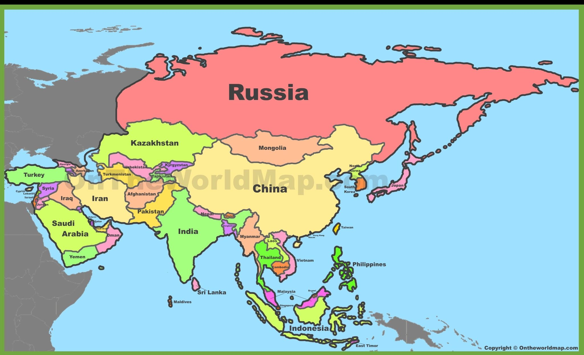 Russia, China, india | Maps in 2019 | Asia map, Asia, World ...