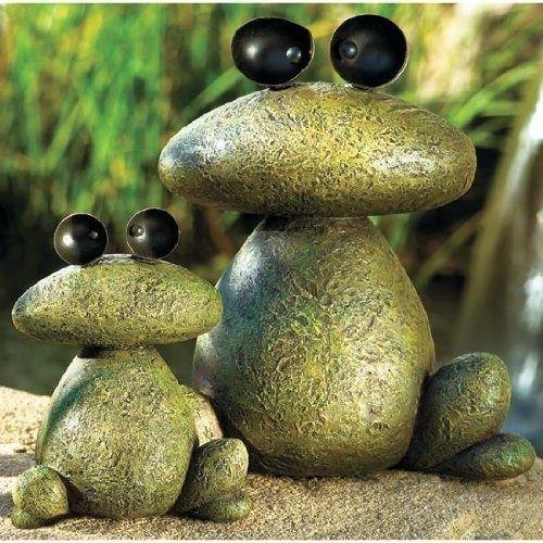 Diy Garden Trinkets Yard Decorations Garden Frogs Garden Art