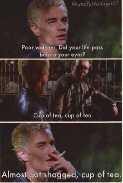 Laughed so hard. Spike and Giles