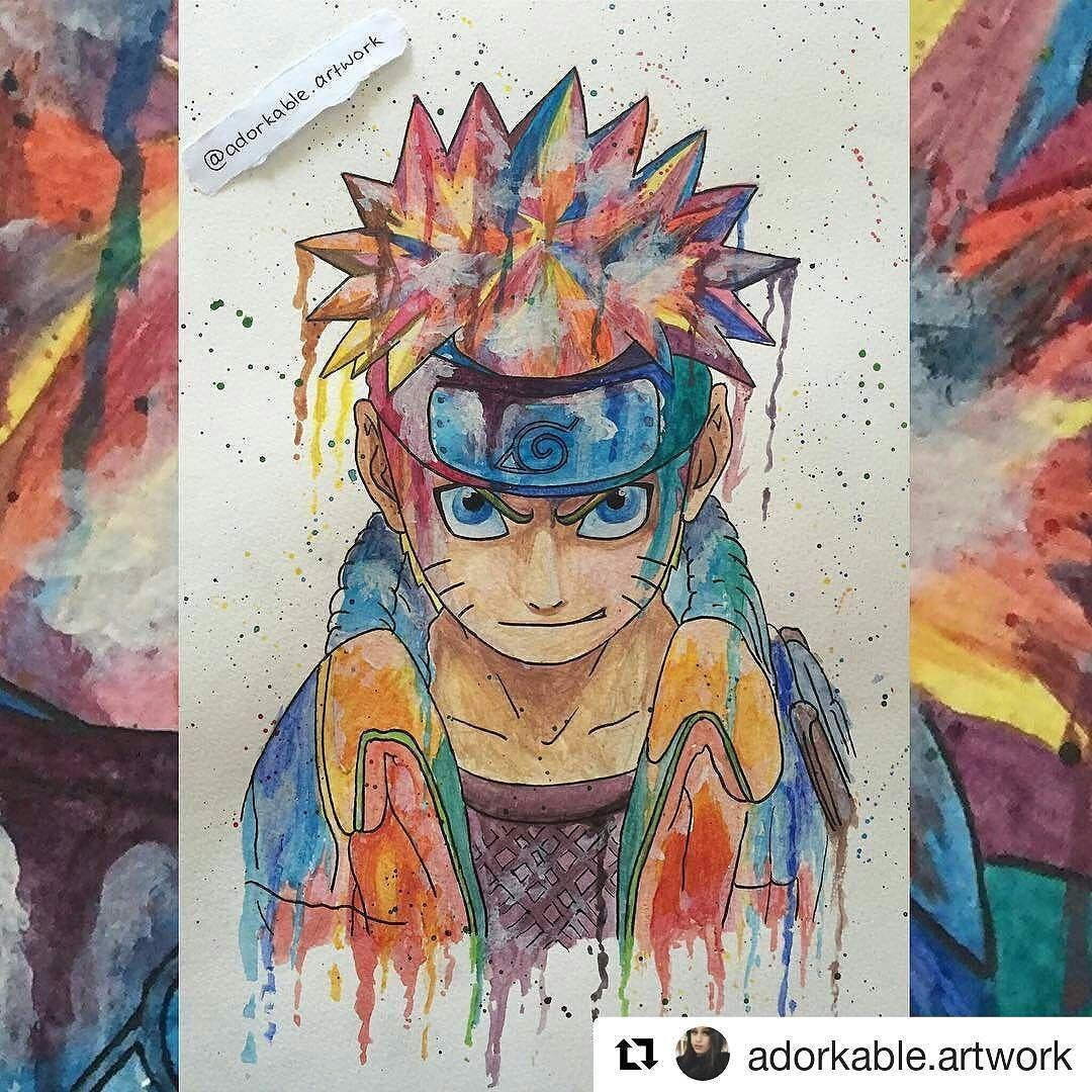 Rainbow Naruto Naruto Narutoshippuden Narutouzumaki Draw